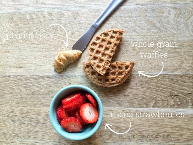 pb 'j' waffles ingredients