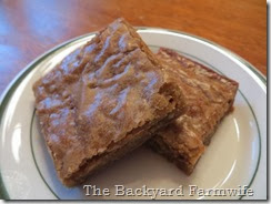 Roca blondies - The Backyard Farmwife