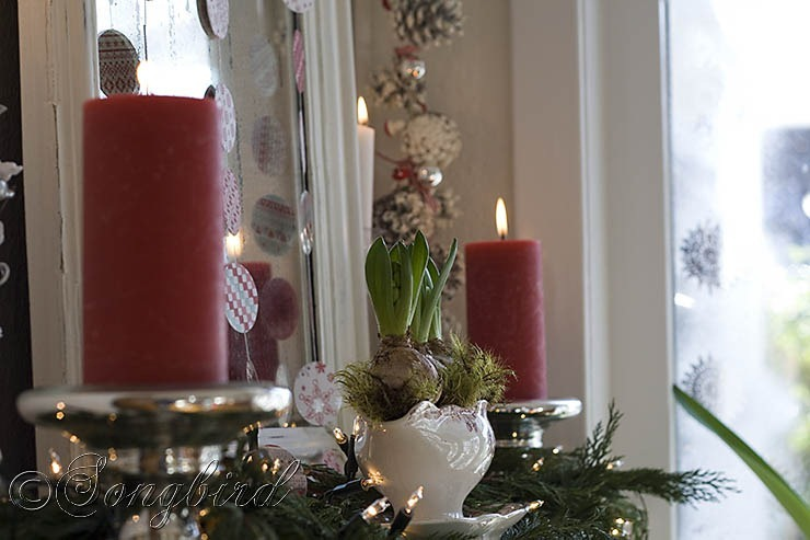 Songbird Christmas Mantel Decor 6
