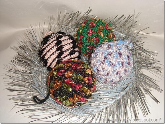 елочные игрушки вязаные крючком елочные шары своими руками