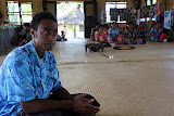 Our Guide Introducing Us To The Practices and Customs of The Village - Suva, Fiji