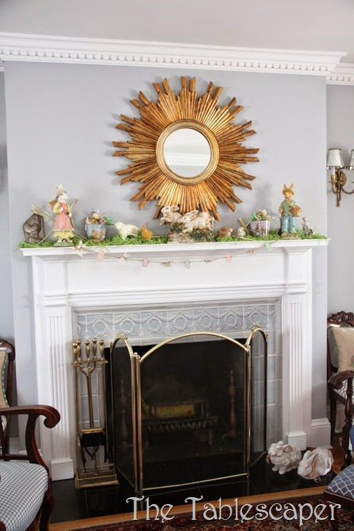 Easter Mantel - The Tablescaper01