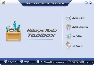 Naturpick audio toolbox screenshot