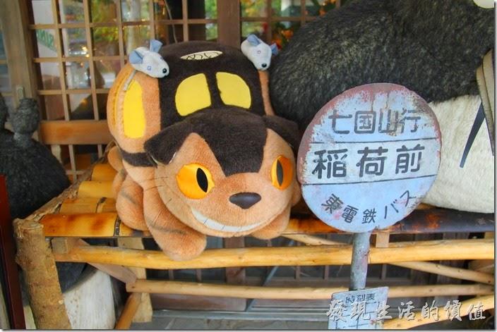 日本北九州-由布院-榛果之森。可愛的龍貓公車玩偶,上頭還有兩隻小老鼠呢!