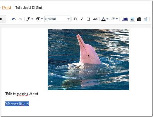 cara membuat link dalam posting blog