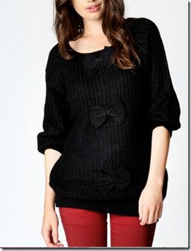Chunky Knit Jumper with Bows1