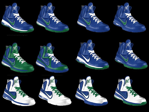 Nike LeBron 9 iD Showcase Vancouver Canucks by abt