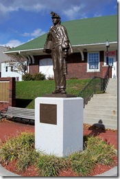 Statue of Coal Miner in front of Municipal Building in Windber