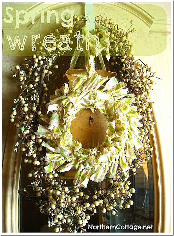northern cottage spring wreath