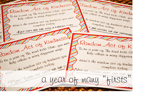 Random Acts of Kindness Round Up