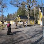 Vilsta camping : arrivée à notre cottage .......