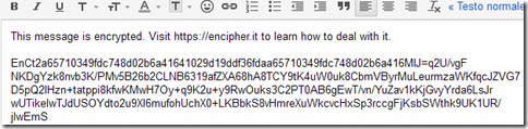 Email criptata con il bookmarklet Encipher It