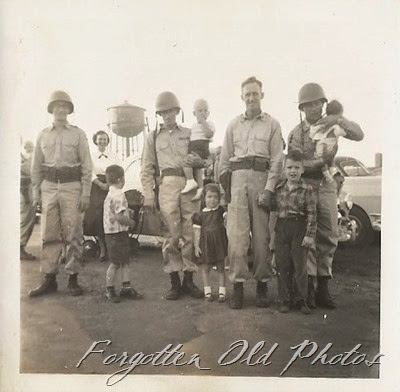 Group of soldiers with children Detroit lakes Ant