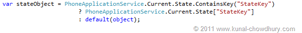 Code Snippet to Retrieve value from Application State
