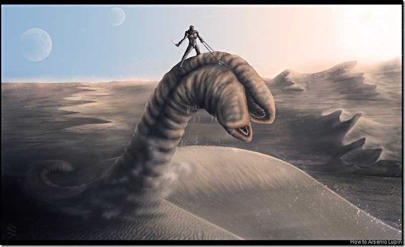 Dune__Drive_the_sandworm_by_leywad