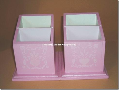 porta cartoes rosa