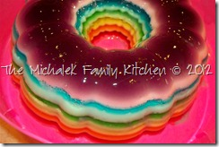 Rainbow Ribbon Jell-O Salad