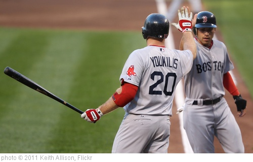'Jacoby Ellsbury and Kevin Youkilis' photo (c) 2011, Keith Allison - license: http://creativecommons.org/licenses/by-sa/2.0/