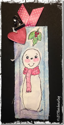 snowman bookmark completed wm
