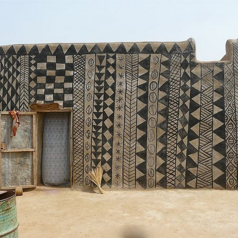 Decorated Mud Houses of Tiébélé, Burkina Faso