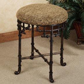 Akanko faux bamboo vanity stool