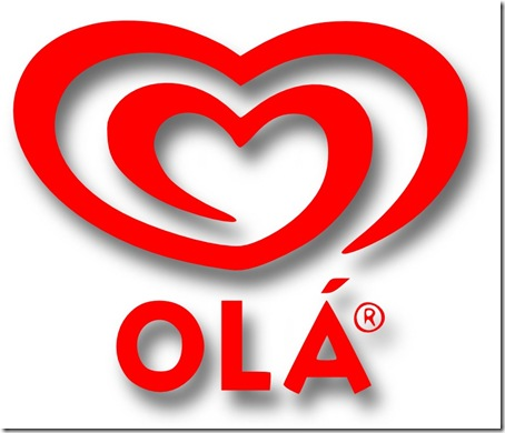 ola gelados logotipo