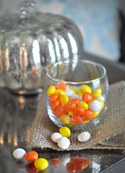#HarvestFun Candy Corn M&M's Pumpkin Bars #shop
