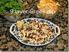 9 layer greek dip