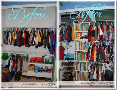 Bedroom Closet Makeover {A Sprinkle of This . . . . A Dash of That}