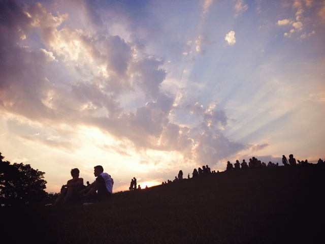 primrose hill sunset