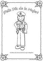 mujer trabajadora policia pintaryjugar 3 1