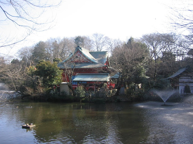 The Inokashira Park shrine is dedicated to Benzaiten, the Goddess of property, good-looks, entertainment and love.