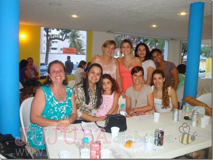 Marisa, Eu e Jujuba, Camila e sua mãe, Luciana Perrotti, Luciana Quaresma, Adrina e Giselle Mamede