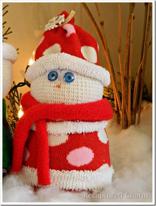 Sock Snowman Sock Santa 020a