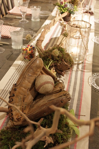 Hello Darling - Organic   Vintage Sports Bar Mitzvah, mitt and ball