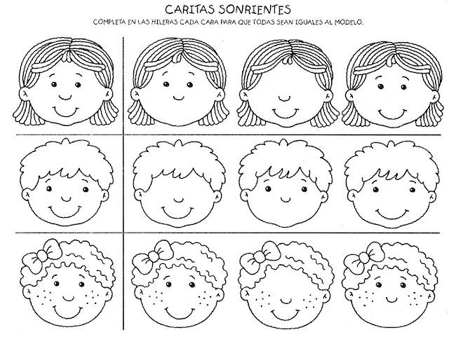 Dibujos para imprimir y colorear: CARITAS SONRIENTES