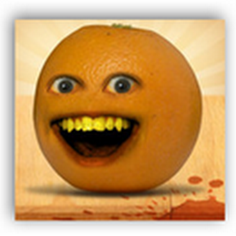 The Annoying Orange Discovers a Different Kind of Apple-An Iphone That Can't Be Juiced  (Video-humor)