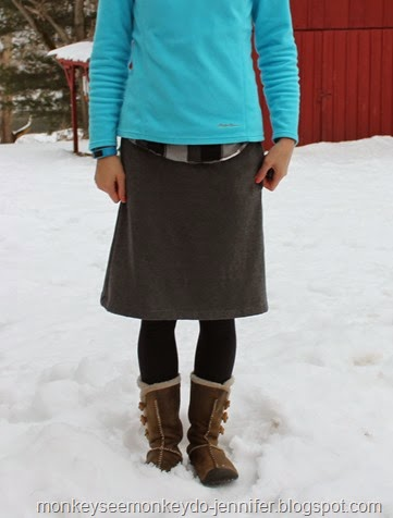 sweatshirt skirt