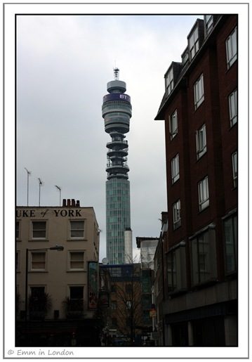 The BT Tower Over the Duke of York