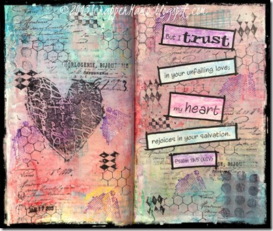 Barb's Art Journal Trust-Heart