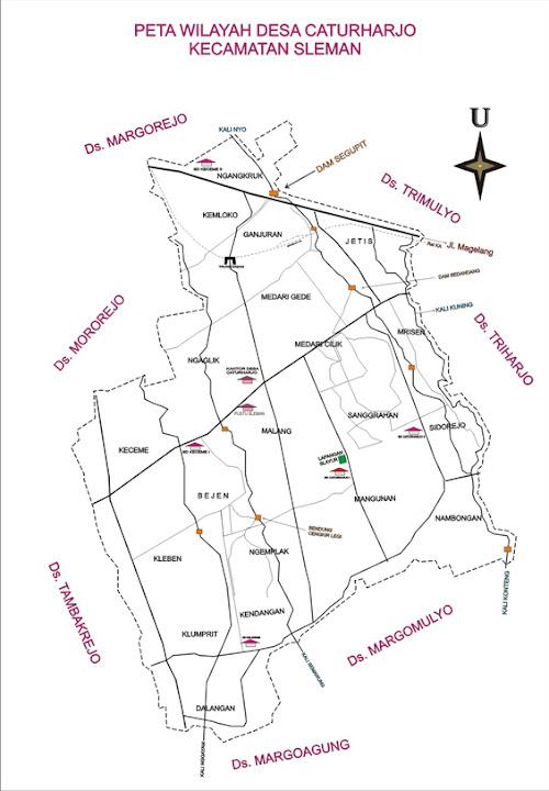 peta desa caturharjo