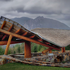 Picnic Shelter Mount Si by JR Hudson | Scenic Edge - Buildings & Architecture Other Exteriors ( snoqualmie winery, snoqualmie, north bend, mount si, snoqualmie ridge )