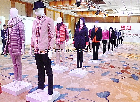 UNIQLO INNOVATION PROJECT SINGAPORE PRODUCT INSTALATION PRESS LAUNCH AT MARINA BAY SANDS