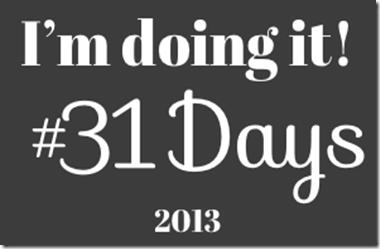 31 Days at Nester's