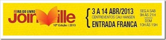 Feira do Livro de Joinville 2013 - Entrada Franca