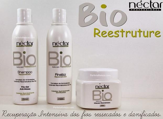néctar bio reestruture néctar, recuperas os fios danificados, perfeita beleza