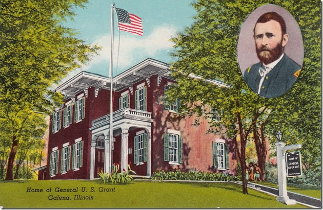 General U. S. Grant Home, Galena, Illinois Postcard
