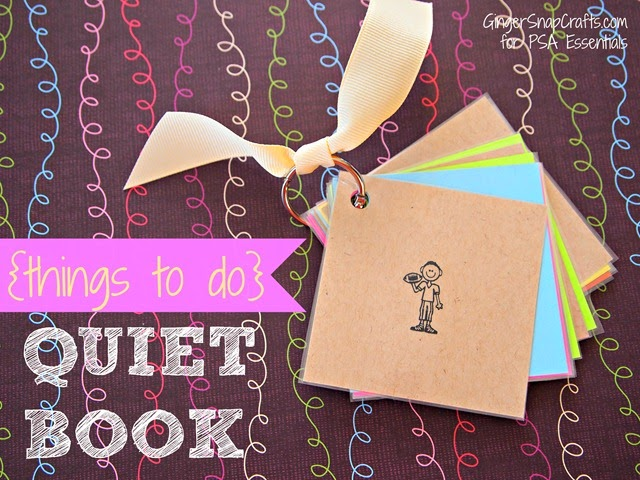 {things to do} quiet book from GingerSnapCrafts.com