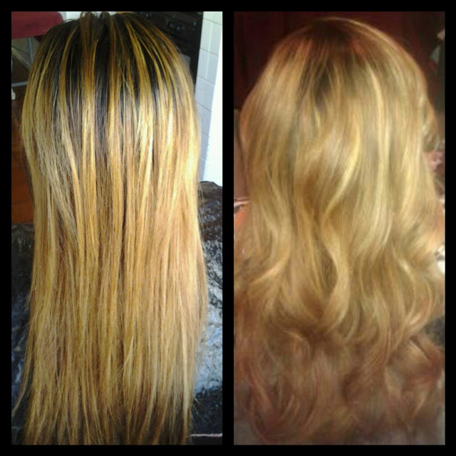 Healthy Hair Is Beautiful Hair..: Blonde hair color.. Before and After