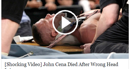 Hoax News About John Cena Killed